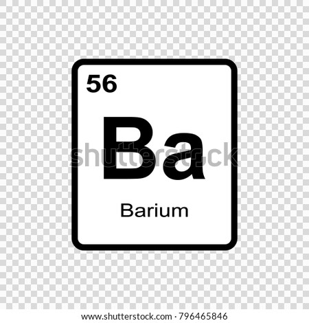 Barium Chemical Element Sign Atomic Number Stock Vector 796465846