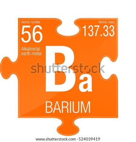 Barium Symbol Element Number 56 Periodic Stock Vector 2018