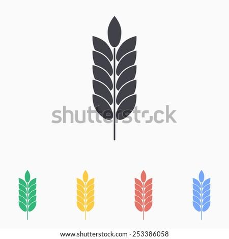 barley icon - stock vector