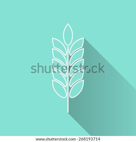 Barley icon, vector illustration, flat design. - stock vector