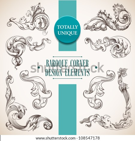 Baroque stock photos royalty free images vectors for Baroque design elements