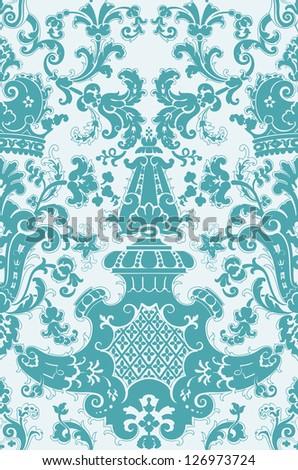 Baroque seamless pattern - stock vector