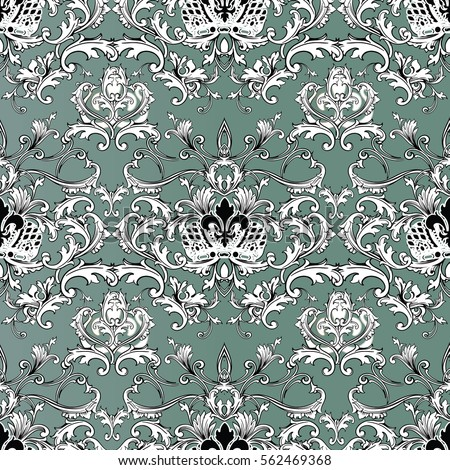 leaf scroll wallpaper vintage patterns - photo #10