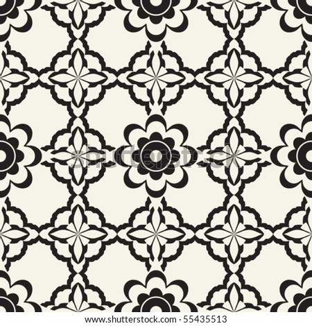 baroque seamless pattern, vector background - stock vector