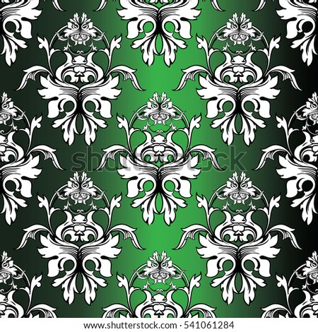 leaf scroll wallpaper vintage patterns - photo #49