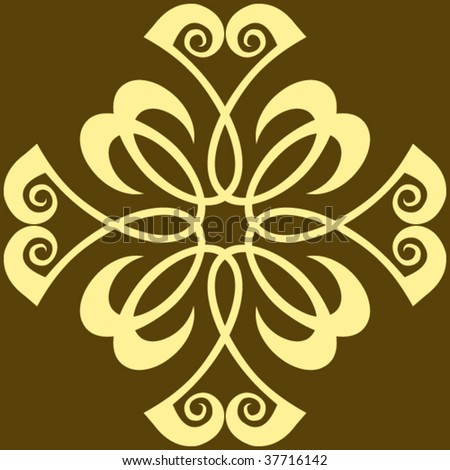baroque vector ornament