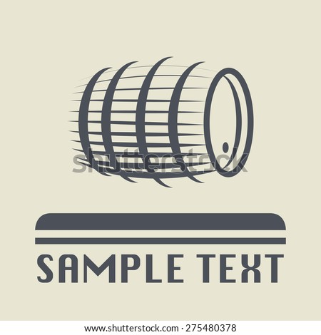 Barrel icon or sign, vector illustration - stock vector