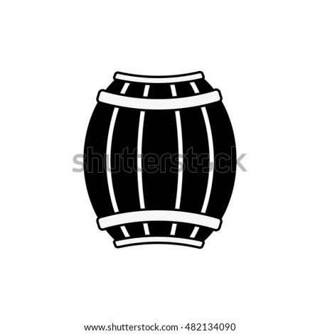Barrel  vector icon isolated on white background.