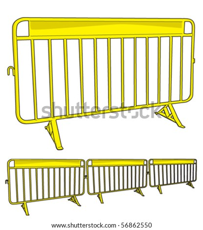 Barrier metal 2 - stock vector