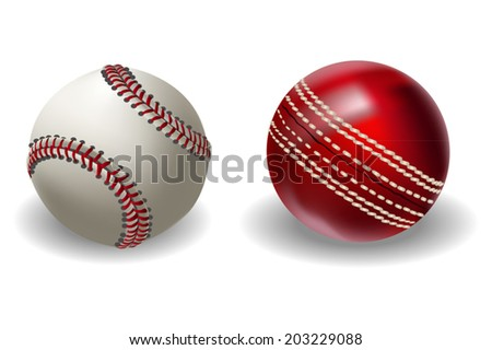 Baseball and Cricket Ball
