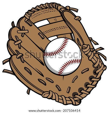 Baseball and Glove - stock vector