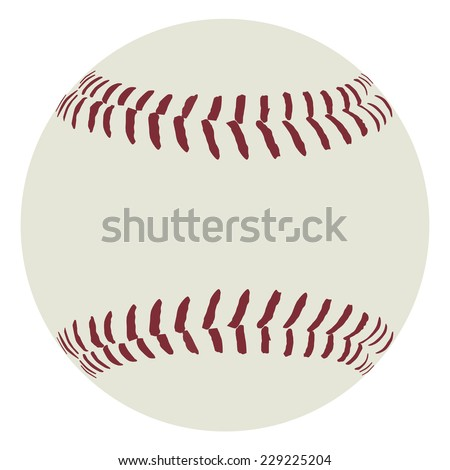 Baseball ball, baseball ball vector, sport equipment - stock vector