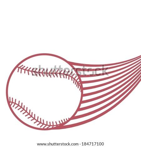 BASEBALL BALL FLYING - stock vector