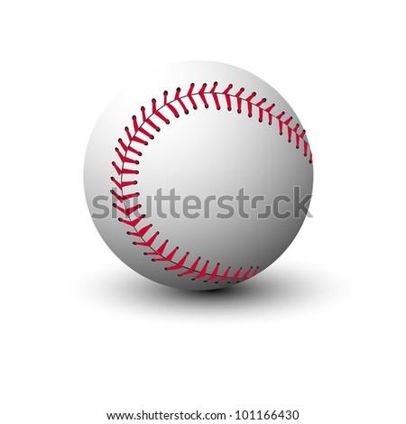 Baseball ball isolated on white background - stock vector