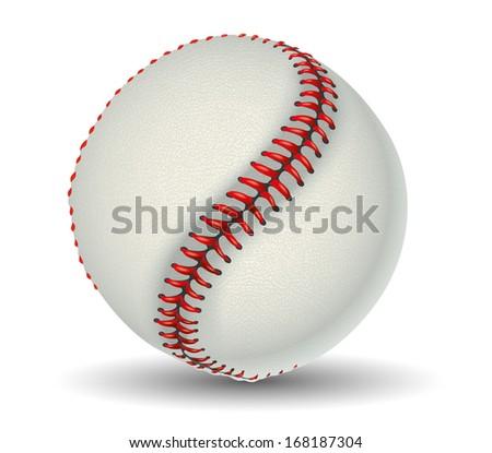 Baseball Ball on white background - stock vector