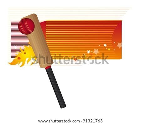 baseball bat and baseball ball vector illustration - stock vector