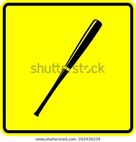 baseball bat sign - stock vector