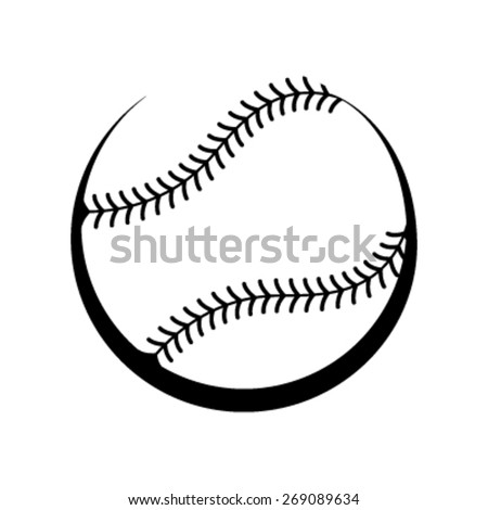 Baseball black and white vector icon