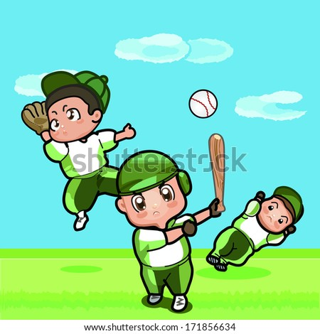Baseball Boy - stock vector