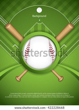 Baseball brochure.Vector illustration - stock vector