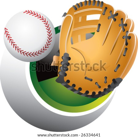 baseball catch - stock vector