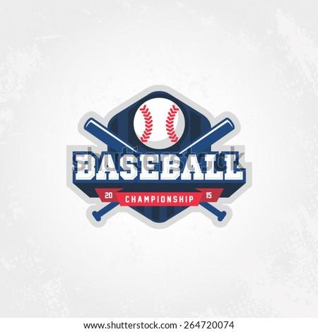 Baseball championship logo - stock vector