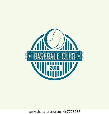 Baseball Club Emblem and Logo. Vector illustration