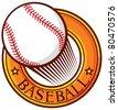 baseball club emblem (label, design, symbol, sign) - stock vector