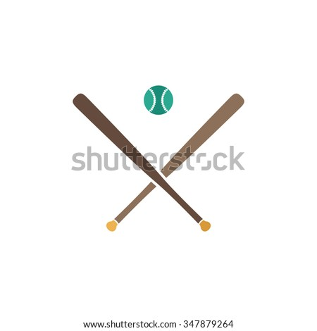 baseball Color vector icon on white background  - stock vector