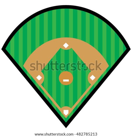 baseball diamond symbol stock vector 2018 482785213 shutterstock rh shutterstock com baseball diamond vector art