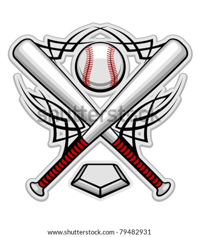 Baseball emblem for sports design or mascot, such a logo. Jpeg version also available in gallery - stock vector