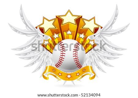 Baseball Emblem, vector - stock vector