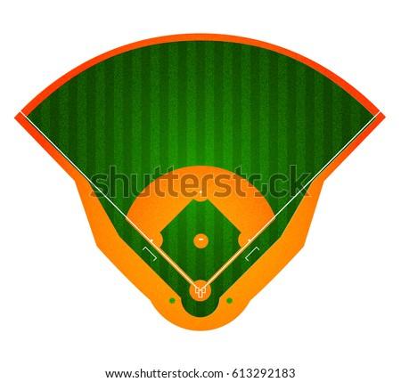 baseball field stadium sport background realistic stock vector rh shutterstock com baseball diamond vector art