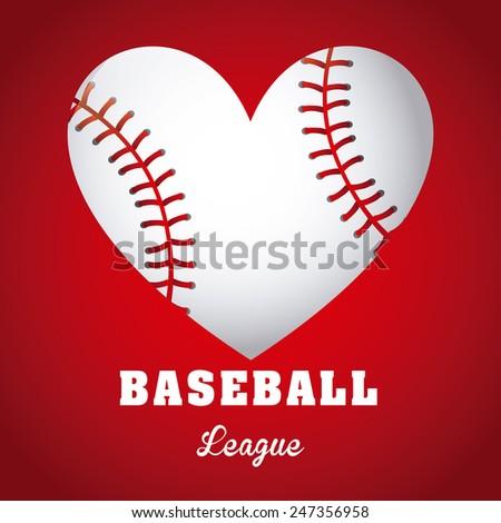 baseball game design, vector illustration eps10 graphic - stock vector