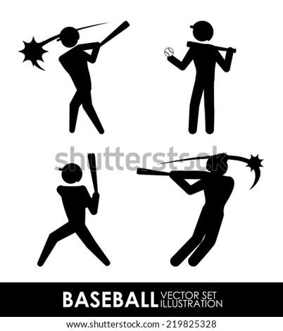 baseball graphic design , vector illustration - stock vector