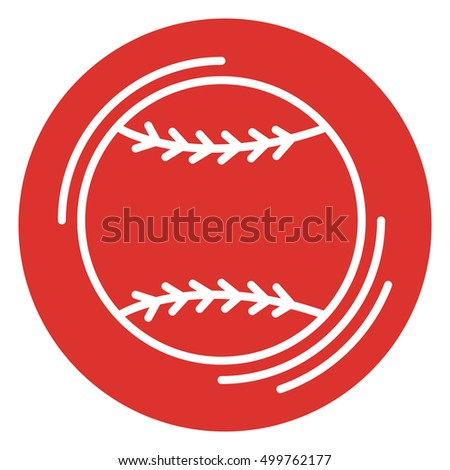 Baseball icon. Icon in a linear style. Vector illustration.