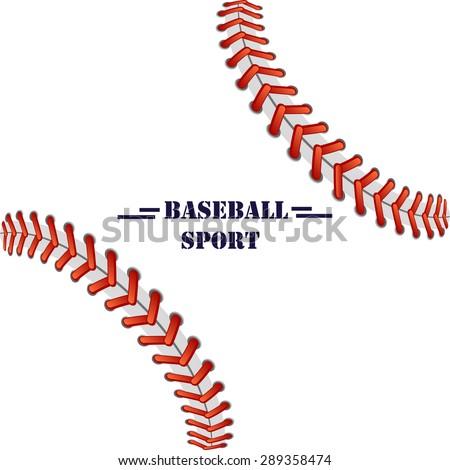 baseball illustration background for text, logo - stock vector