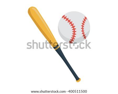 Baseball Illustration - Flat Icon - stock vector