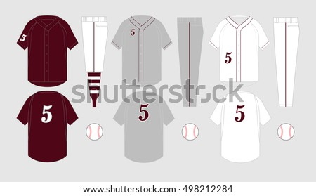 Baseball jersey vector templates various uniform styles