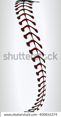 Baseball Laces or Softball - stock vector