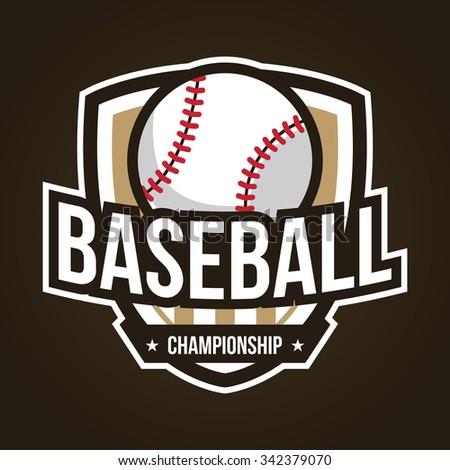 baseball club logo vintage sport emblem stock vector