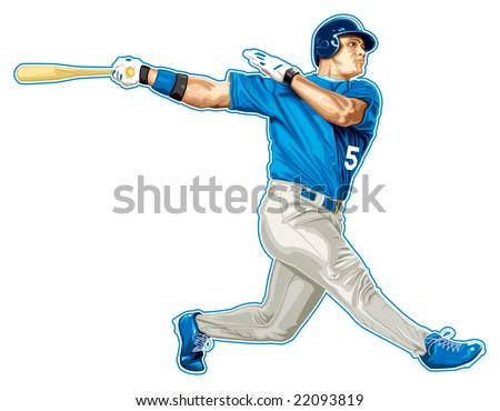 baseball player - stock vector