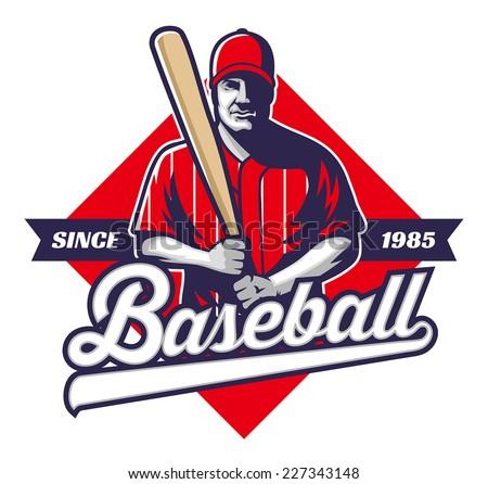 baseball player hold a bat - stock vector