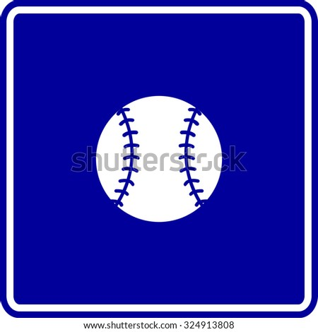 baseball sign - stock vector