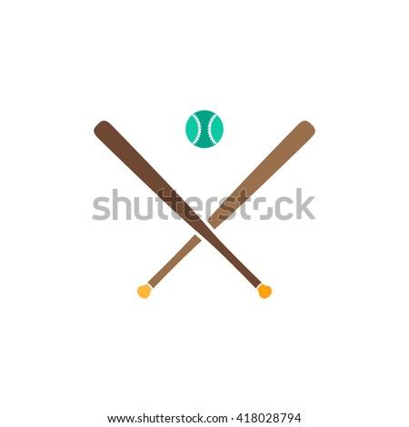 baseball Simple flat vector icon - stock vector