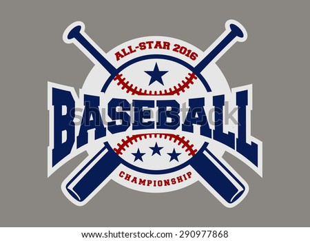 baseball sport badge logo design template and some elements For logos, badge, banner, emblem, label, insignia, T-shirt screen and printing - stock vector
