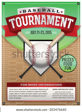 Baseball Poster Stock Images RoyaltyFree Images  Vectors