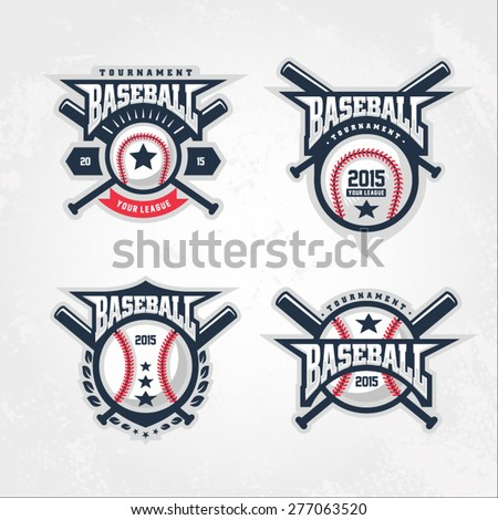 Baseball tournament professional logo - stock vector