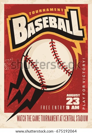 Baseball Tournament Logo Stock Illustration   Shutterstock