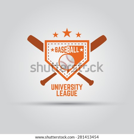 baseball university sport league isolated vector colored badge template  - stock vector